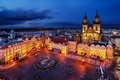 Picture the city, building, the evening, Prague, Czech Republic, lighting, area, architecture, Prague, The Czech Republic, ...