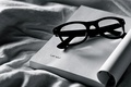 Picture different, notebook, white, glasses, black, fabric