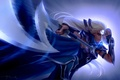 Picture weapons, mask, art, girl, Diana, symbol, white hair, League of legends