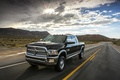 Picture The sky, Machine, Pickup, Black, Heavy Duty, Dodge, Day, Road, clouds, The sun, Ram