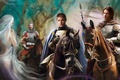 Picture weapons, Sam, knight, Bobby, Ondine, mermaid, armor, Dean, supernatural, horse