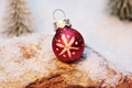 Picture snow, red, holiday, toy, new year, Christmas, ball, snowflake, Christmas, Christmas trees, Christmas toy, Christmas