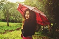 Picture summer, girl, smile, umbrella, umbrella, curls, curls
