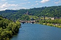 Picture mountain, bridge, ships, home, Germany, shore, trees, Castle, castle, Cochem, river