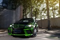 Picture green, tuning, bmw, BMW, tuning, the front, chrome