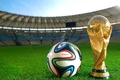 Picture the ball, football, tribune, brazuca, 2014, Brazil, the world Cup, stadium, Cup, lawn