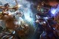 Picture magic, the gods, fight, Smite