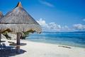 Picture sand, sea, beach, the sky, the sun, clouds, tropics, stones, shore, canopy, sunbeds, Philippines