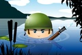 Picture weapons, army, water, soldiers