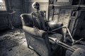 Picture background, chair, skeleton