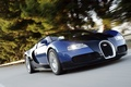 Picture speed, highway, veyron, supercar, bugatti, black and blue
