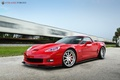 Picture red, strasse, Corvette, Z06, forged