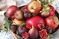 Picture figs, garnet, fruit, apples