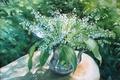 Picture vase, picture, Lily of the valley, flowers, bouquet