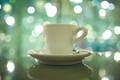 Picture macro, light, glare, mood, morning, spoon, Cup, saucer