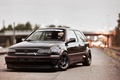 Picture Golf, volkswagen, before, Volkswagen, MK3, black, golf, black, tuning