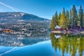 Picture national, blue, tree, sky, day, clouds, forest, home, mountain, sun, red lake, toiyabe, sea, light, ...