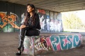 Picture style, graffiti, clothing, boots, face, hair, girl, the tunnel, model