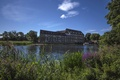 Picture Huntington, the building, Huntingdon, England, the river great Ouse, boat, vegetation, reed, Cambridgeshire, River Great ...