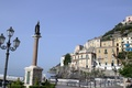 Picture sea, mountains, home, Italy, resort, column, Campaign, Minori