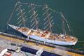 Picture mast, mooring, sailing, pier, sailboat, visit, port, bark, BAP Union, ship