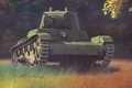 "Picture easy, based, war, art, 1930году, ""Vickers, English, Mk.E», purchased, Soviet, tank, figure, tank, created, T-26"