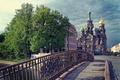 Picture Bridge, Peter, Clouds, Saint Petersburg, Temple, Dome, Russia, SPb, St. Petersburg, spb, Leningrad, Of the ...