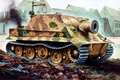 Picture ruins, SAU, figure, 38 cm RW61 on assault mortar Tiger, Sturmpanzer VI, Shturmtigr, Storm Panzer ...