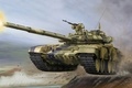 Picture combat, art, jump, overcoming, tank, Russian, obstacles, Russia., exercises, gun, main, polygon, shot, T-90, caliber, ...