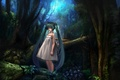 Picture hatsune miku, vocaloid, forest
