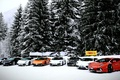 Picture Lamborghini, snow, mix, Aventador, Gallardo, cars