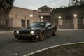 Picture Muscle, Dodge, Challenger, Car, Front, Black, Matte, Tuning, R/T, Wheels, Ligth
