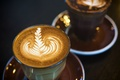 Picture macro, light, drink, coffee, foam, glasses, pattern, dishes