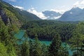Picture Tirol, mountains, Austria, clouds, trees, river, forest