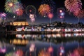 Picture Saarburg, Germany, holiday, fireworks, New year