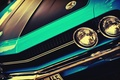 Picture American cars, vintage cars, American cars, vintage cars, blue, outdoors, front, headlights, machine, auto, vintage, ...