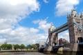 Picture England, London, bridge, river, clouds