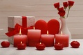 Picture candles, love, heart, Valentine's Day, heart, love, romantic