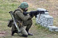 Picture helmet, soldiers, forest, Russian, the shooting range, fighter, camouflage