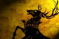 Picture symbol house, GOT, crown, TV series, medieval, War of the Five Kings, horns, Westeros, animal, ...