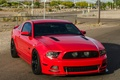 Picture wheels, red, black, mustang, ford