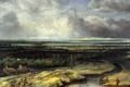 Picture nature, Landscape with Hawk Hunting, genre, Koninck Philips, picture