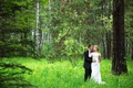 Picture forest, girl, love, hugs, male, lovers, the bride, wedding, beautiful, lovers, feeling, the groom, wedding, ...