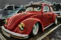 Picture retro, Beetle, renderin, beetle