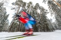 Picture winter, forest, speed, biathlon, biathlete