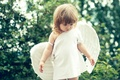 Picture summer, child, wings, angel, girl, beautiful, girls, little, gentle, Little, Angels