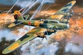 Picture PE-8, WW2., art, the plane, Soviet, BBC, action, OKB, giant, WWII, four-engine, far, speed, wings, ...