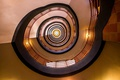 Picture lights, circle, stained glass, spiral, stairwell, stairs