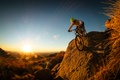 Picture nature, hills, male, cyclist, mountain bike