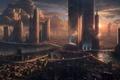 Picture dark, dead, city